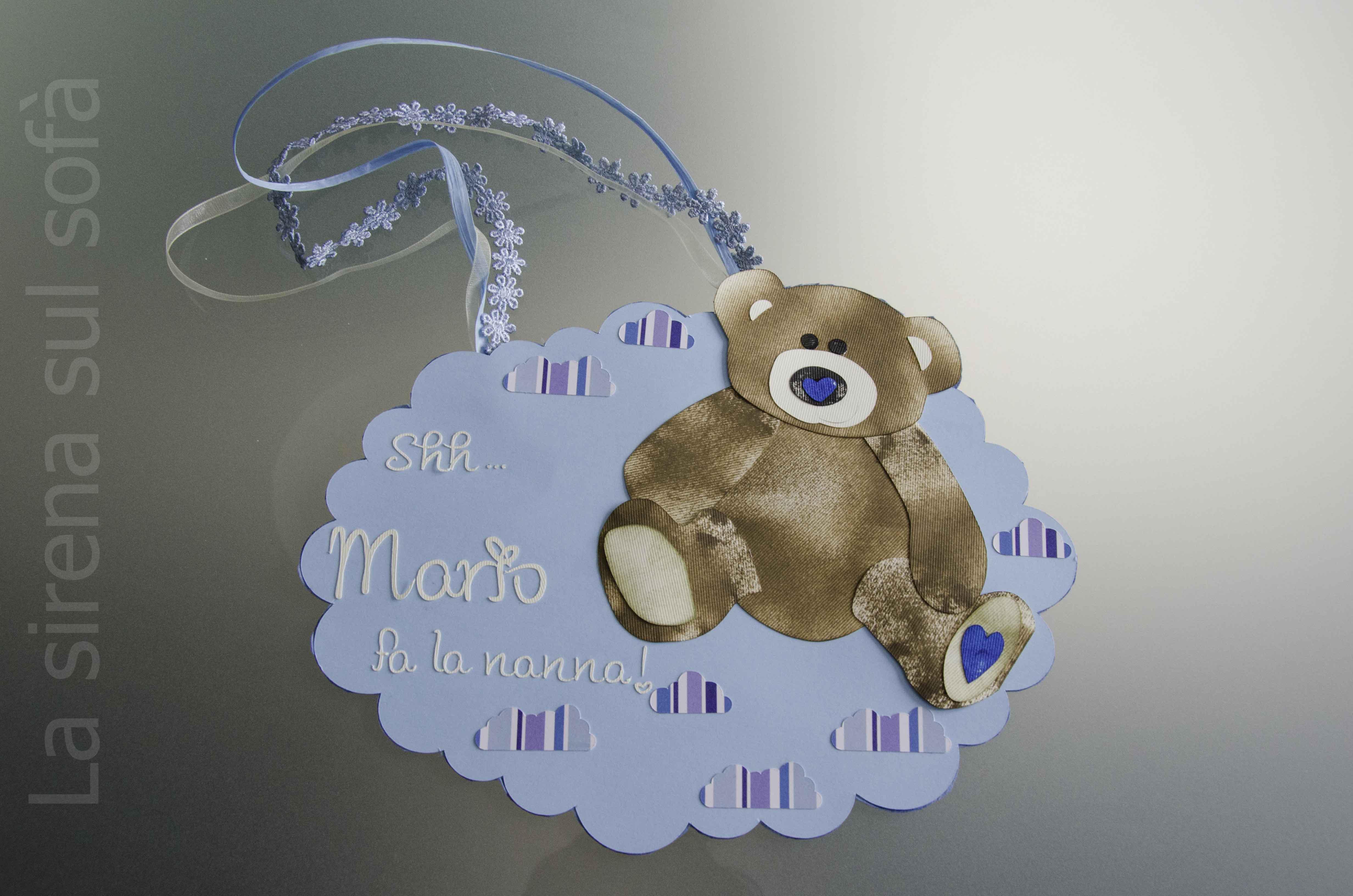 Door hanger orso maschio