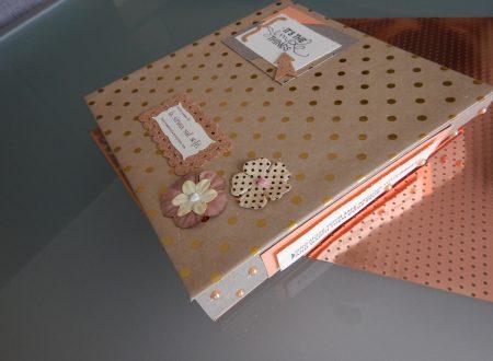 Minialbum rosa e oro per la piccola E.